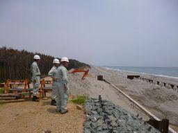 遠州灘防潮堤現地確認(7月29日)